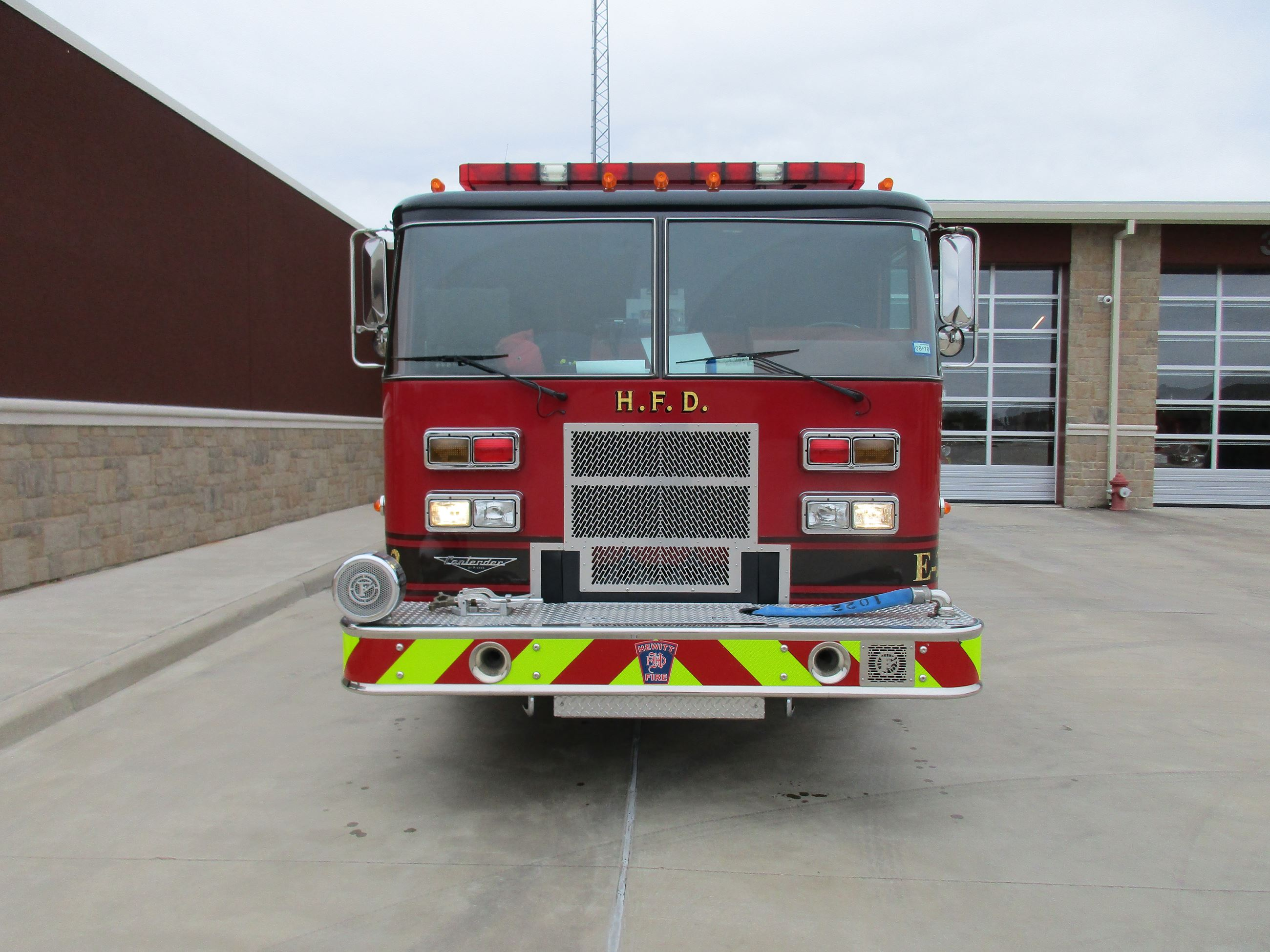 engine 1 holds 750 gallons of water and is capable of pumping 1250 gpm  it  is the first responding apparatus for medical emergencies and responds with